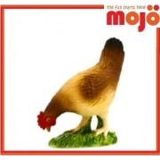 Mojo Fun 387053 Colorful Hen Pecking- Realistic Barnyard Farm Chicken