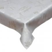Fata de masa alba - imprimeu clopotei si brazi 80x80 cm
