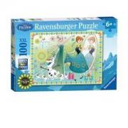 Пъзел Ravensburger 100 части - Замръзналото кралство, 7010584