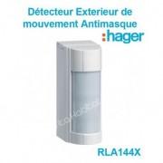 HAGER RLA144X Détecteur de mouvement Extérieur Antimasque IP 55 Hager Sepio pile lithium fournie