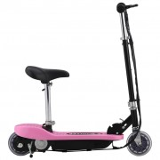 vidaXL Електрически скутер със седалка, 120 W, розов