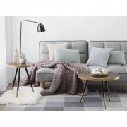 Beliani Mesa de apoio em madeira com pés pretos / dourados RAMONA