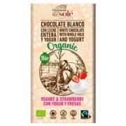 Ciocolata Bio cu Iaurt si Capsuni Pronat 100gr