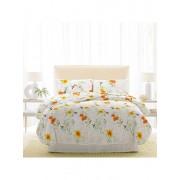 Lenjerie pentru pat matrimonial, Dormisete, renforce, imprimata, Rosemallow, 220 x 250 cm, bumbac, Multicolor