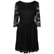 Vero Moda Rochie pentru femei VMALVIA 3/4 LACE SHORT DRESS Black S