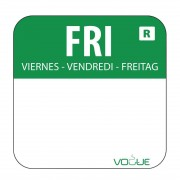 Vogue Removable Colour Coded Food Labels Friday (Pack of 1000)