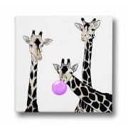 Pânză cu imprimeu Butter Kings, Friendly Giraffes