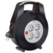 Vario Line Kábeldob 4 dugaszhelyes fekete/világosszürke 10m H05VV-F 3G1,0