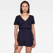 G-star RAW Femmes Mix jumpsuit Bleu foncé
