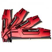 Memorie G.Skill Ripjaws V Blazing Red 32GB (4x8GB) DDR4 3200MHz CL14 1.35V Intel Z170 Ready XMP 2.0 Dual Channel Quad Kit, F4-3200C14Q-32GVR