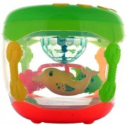 Srmaji Flash Fish Drum With Rotating Lamp Light & Musical Instruments Sounds Fish Lamp Rotating Drum With Music For Kids Musical Instruments Toy For Kids Lamp Lights For Kids Drum With Music and Flash For Children High Quality Flash Drum Musical Instrumen