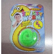 Twisty Wriggly Magic Worm - A fun toy for all ages (Blue) (Green)