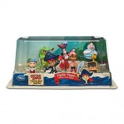 Disney Store Disney Jr. Jake and the Never Land/Neverland Pirates 7 Piece Action Figure Figurine Gift Play Set