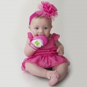 Munch Mitt - Mordedera Para Bebés, Guante De Dentición Rosa