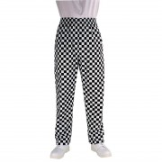 Chef Works Essential Baggy Pants Big Black Check 2XL Size: XXL