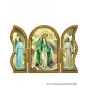 Csodás Mária aranyozott szárnyas faplakett