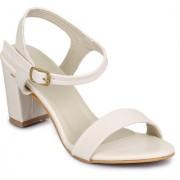 Funku Fashion Women's White Block Heels