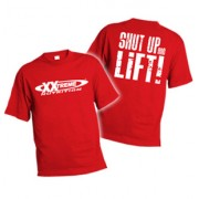 Pánské triko červené M- Shut Up 100 % bavlna Xxtreme Nutrition