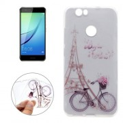 For Huawei nova Tower Bicyle Pattern Transparent Soft TPU Protective Back Cover Case