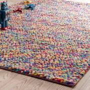 Maisons du Monde Alfombra de lana de colores 140 x 200 cm RAINBOW