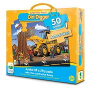 The Learning Journey Jumbo Floor Puzzles Dirt Digger Floor Puzzle, Multi, Multi Color