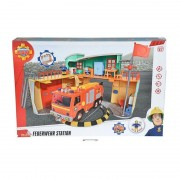 Simba Toys 109258282 Pompier Sam - Nouvelle Caserne De Pompiers Avec Figurines.