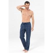 BlackSpade Хлопковые мужские домашние штаны синего цвета в клетку BLACKSPADE b7509 Blue