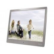 """Hama Digital fotoram 24.6 cm 9.7 """" Hama 97SLB 1024 x 768 pixel Rostfritt stål (borstat)"""