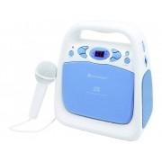 SoundMaster KCD 50 Barn CD-spelare AUX, CD, FM, USB inkl. Karaoke-Funktion, inkl. mikrofon Blå