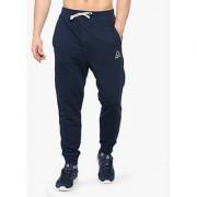 Reebok Navy Polyester Lycra Track pants