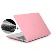 Apple MacBook Pro 13.3 inch met Touchbar (A1706 - US versie) 2 in 1 Frosted beschermende Hardshell ENKAY Hat-Prince behuizing met ultra-dun TPU toetsenbord Cover (roze)