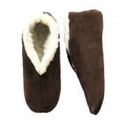 Bernardino Warme wollen bruine Spaanse sloffen/pantoffels voor dames/heren/volwassenen