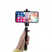 Shop4 - iPhone X Selfie Stick Bluetooth Groen
