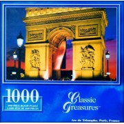 Classic Treasures 1000-Piece Large Jigsaw Puzzle - Arc de Triomphe, Paris, France
