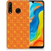 Huawei P30 Lite TPU Hoesje Design Batik Orange