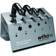 Комплект имбусни ключове TORX®, 9ч къс, черен, в стойка за работна маса, 01326, WIHA