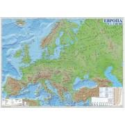 Европа – физическа карта