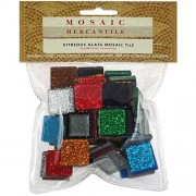 Mosaic Mercantile GLAST1/2 Vitreous Glass Mosaic Tile, Assorted