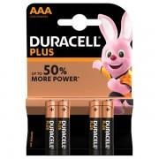 Duracell Plus Power MN2400 LR03 AAA tartós elem 4db/bliszter (ár/db)