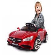 Battery Operated Kid Ride On Car With Remote Controlled (Optional Controller) (Maroon Red)