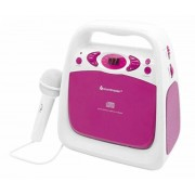 Soundmaster KCD50 - CD-Player Weiss/Pink