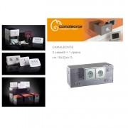 Cassaforte/Cassetta di sicurezza a scomparsa/mimetica finta presa elettrica CAMALEONTE - Mod. 3 cassetti + ripiano