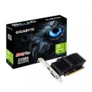 Видео карта Nvidia GeForce GT 710, 2GB, Gigabyte GeForce GT 710 GV-N710D5SL-2GL, PCI-E 2.0, GDDR5, 64 bit, HDMI, DVI