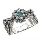 SS シードパール&エメラルドリング【QVC】40代・50代レディースファッション