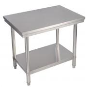 Costway Mesa de acero inoxidable de trabajo mesa de preparación de cocina 91.5 x 61 x 90 cm