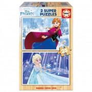 Educa Disney Jégvarázs fa puzzle, 2x25 darabos II.