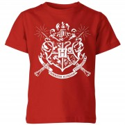 Harry Potter Camiseta Harry Potter Escudo Hogwarts - Niño - Rojo - 7-8 años - Rojo