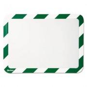 High Visibility Safety Frame Display Pocket-Magnet Back, 10 1/4 X 14 1/2, Gn/wh