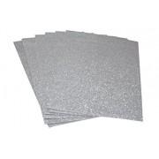 CHIISEN Foam Glitter Sheets A4 Size Silver (6pcs)