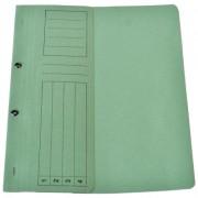 Dosar din carton cu capse 1/2 verde tip L
